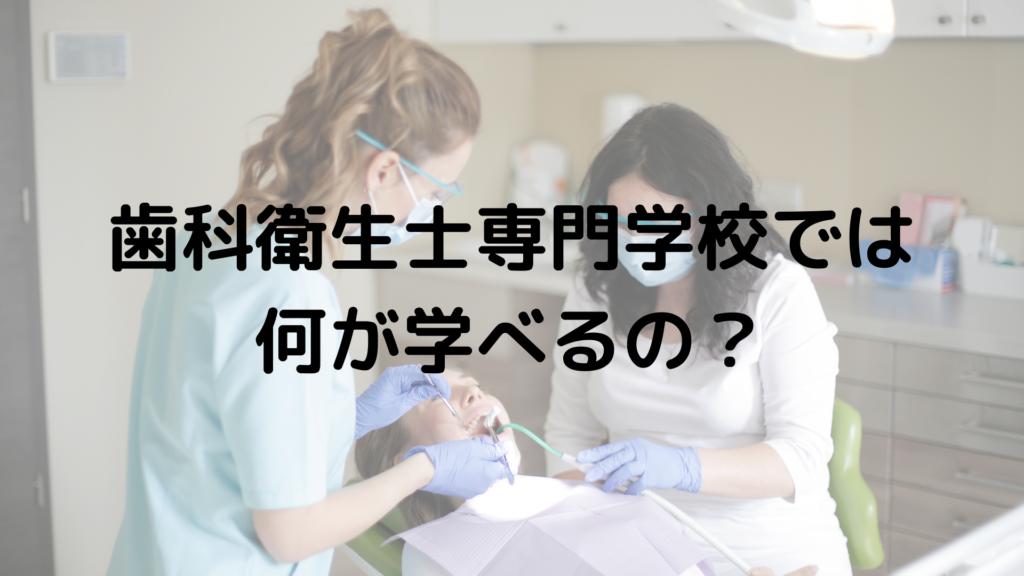歯科衛生士専門学校に行くと何が学べるのか?